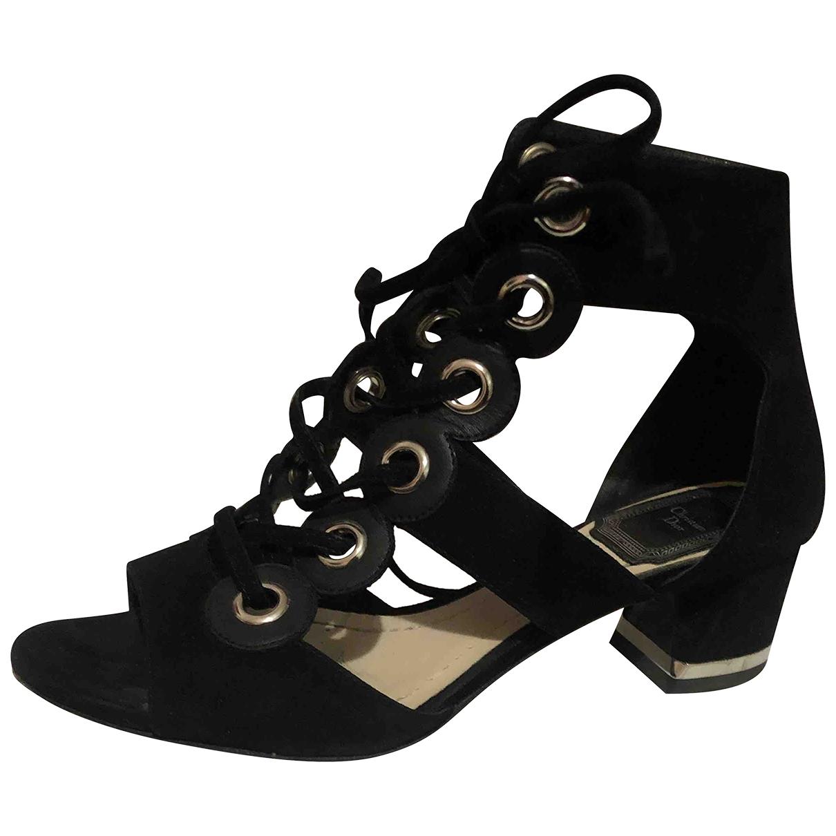 Dior \N Sandalen in  Schwarz Veloursleder