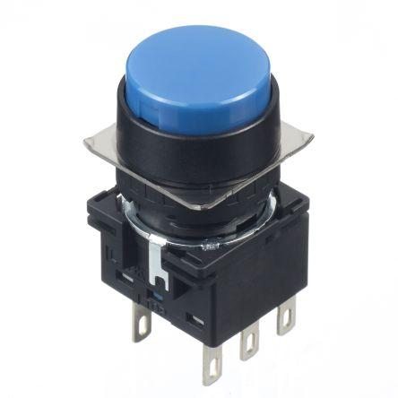 Idec LB16mm, PB, round, mtnd, 24V AC/DC, bu