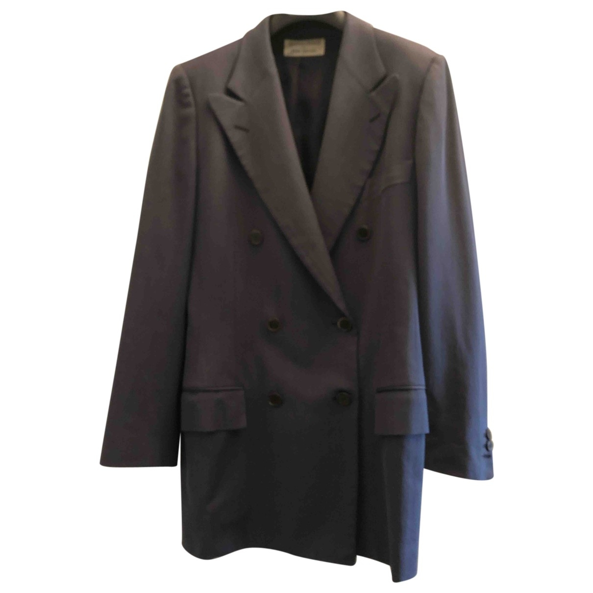Non Signé / Unsigned \N Blue Wool jacket for Women 42 FR
