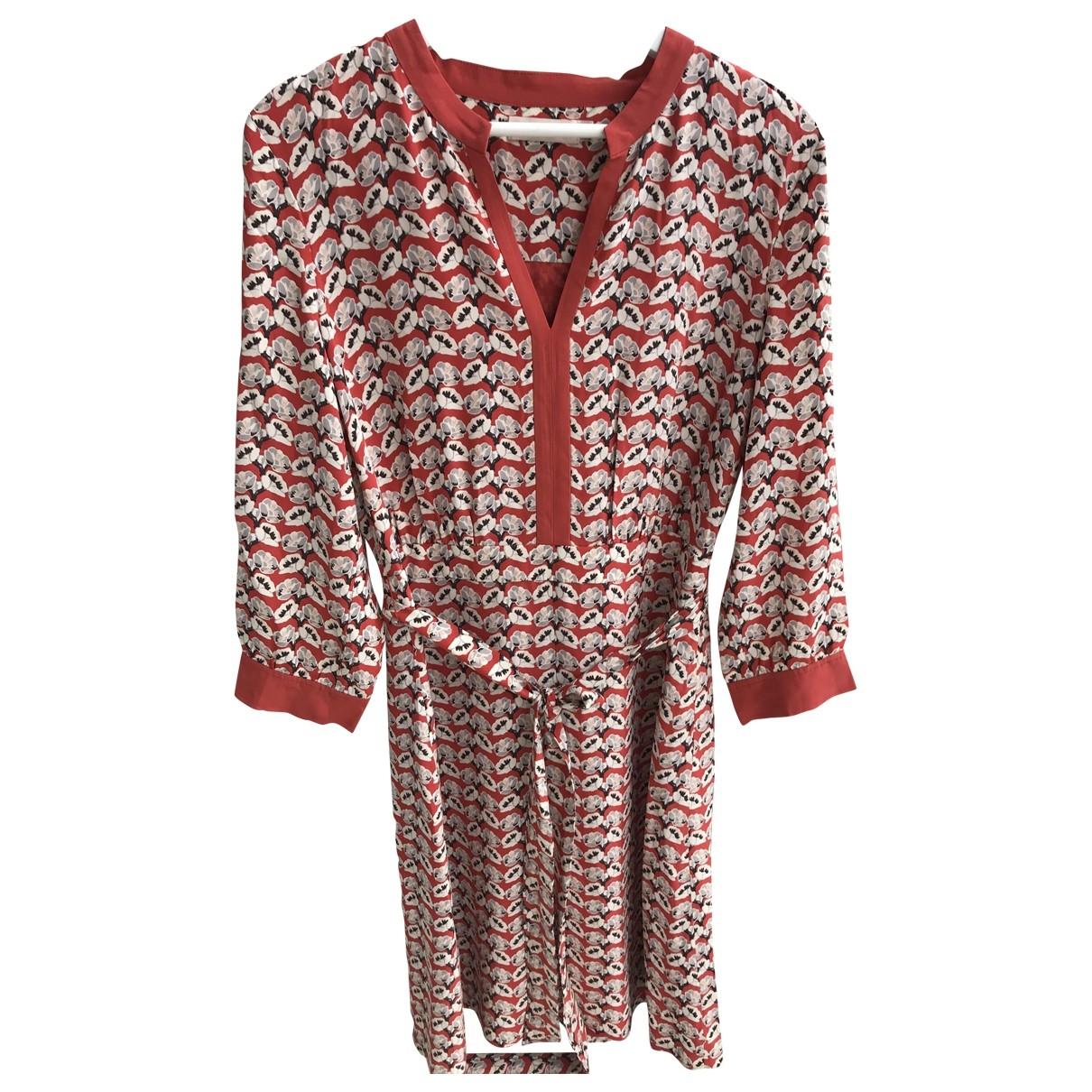 Tory Burch - Robe   pour femme en soie - rouge
