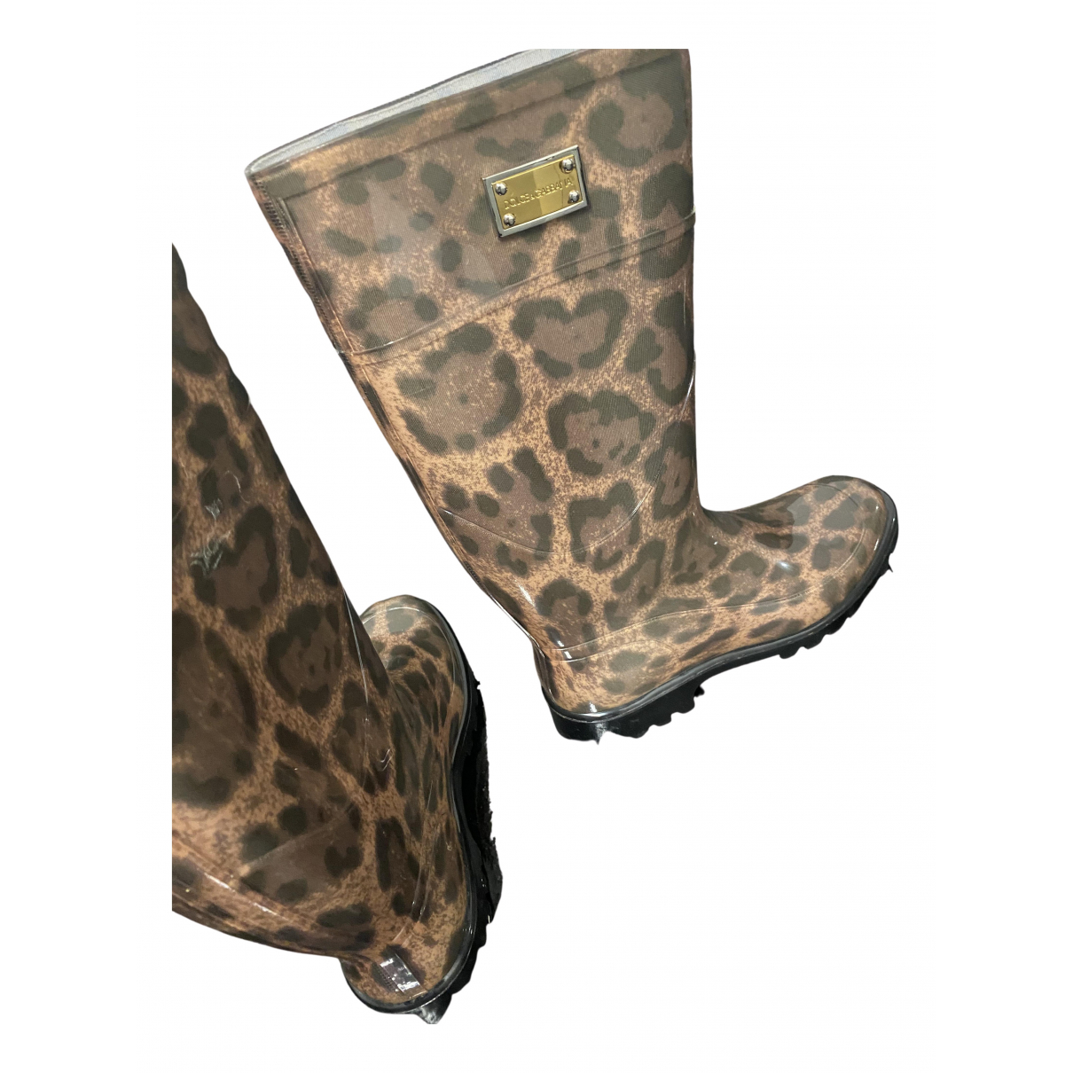 Dolce & Gabbana N Brown Rubber Boots for Women 40 EU