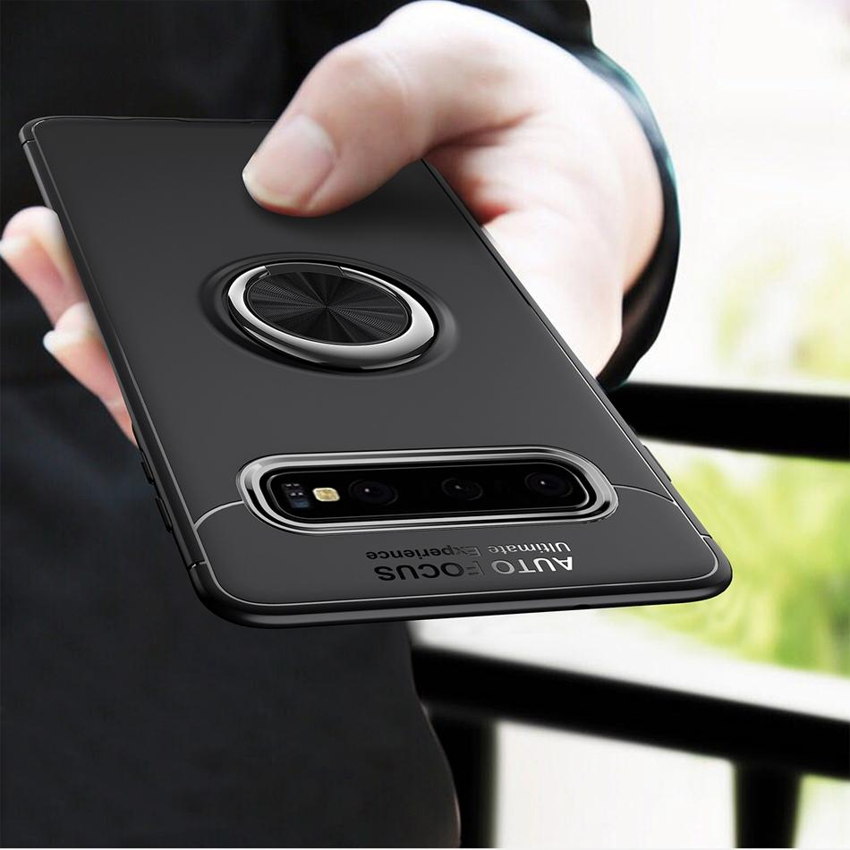 C-KU 360º Rotating Ring Grip Kickstand Protective Case For Samsung Galaxy S10 Plus 6.4 Inch