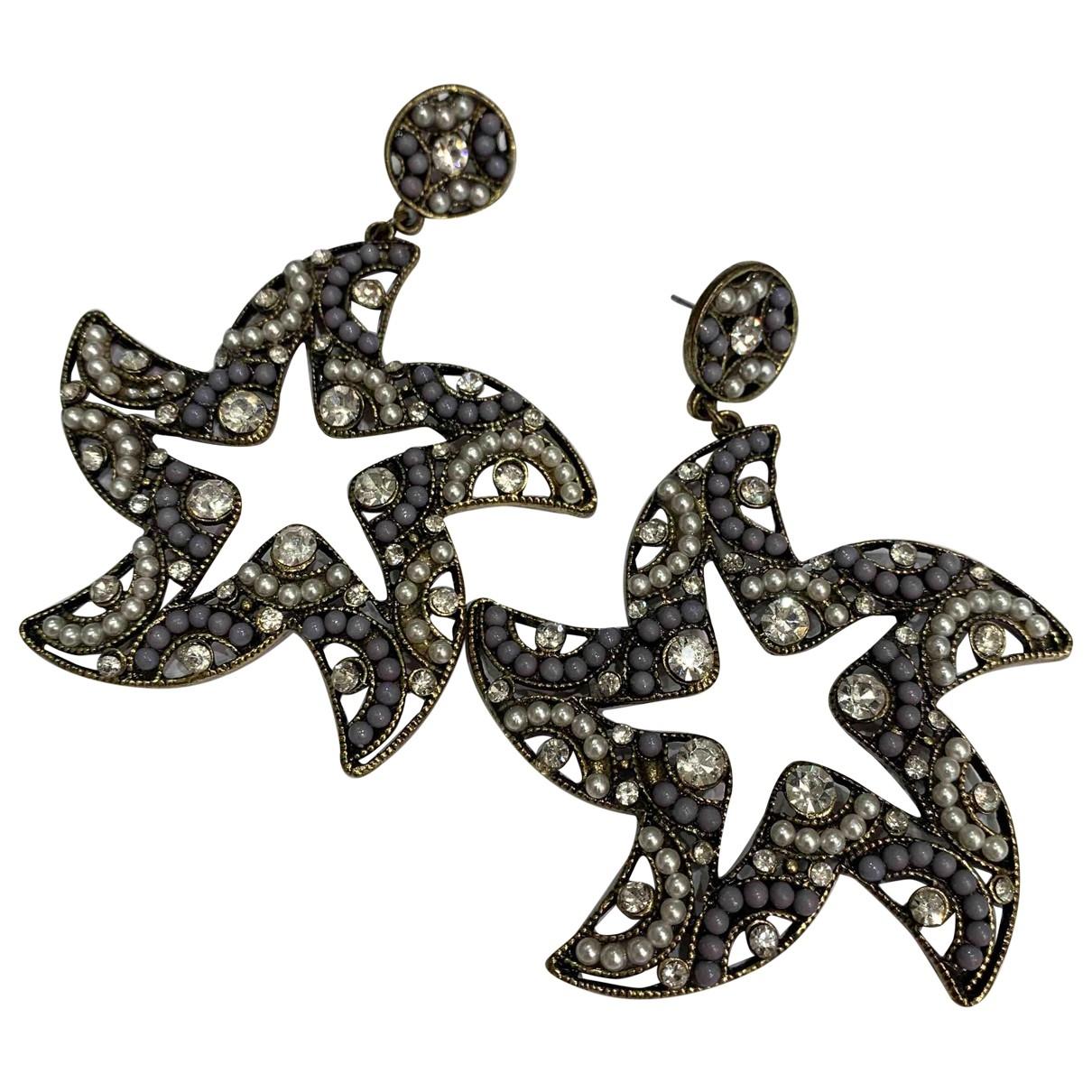- Boucles d'oreilles Motifs Etoiles pour femme en metal - violet