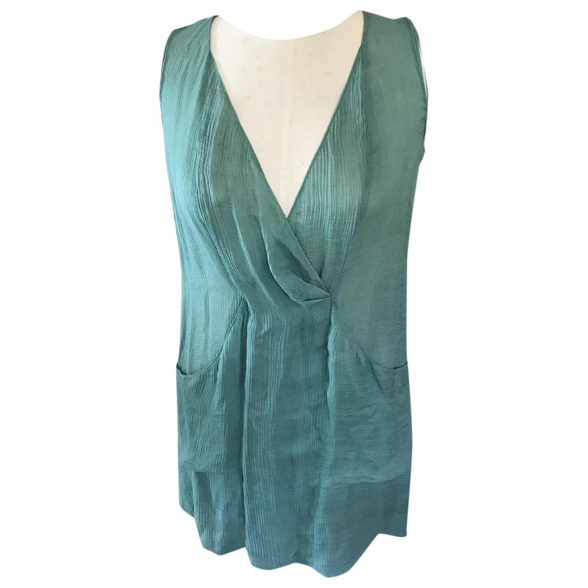 Vanessa Bruno Athe \N Green Silk dress for Women 38 FR