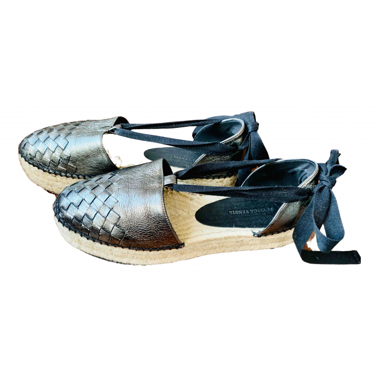Bottega Veneta \N Espadrilles in  Metallic Leder
