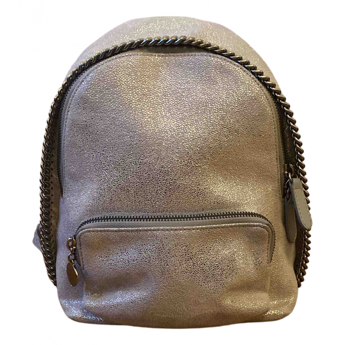 Stella Mccartney Falabella Silver Cloth backpack for Women N