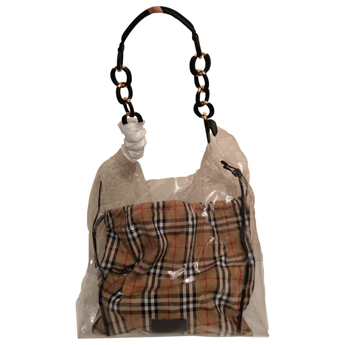Burberry \N Handtasche in  Beige Kunststoff