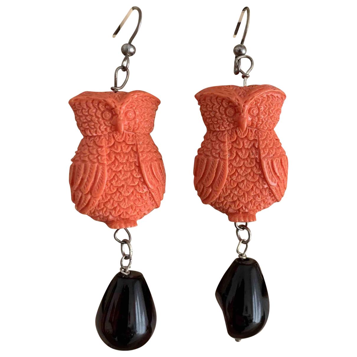 - Boucles doreilles Motifs Animaliers pour femme en argent - orange
