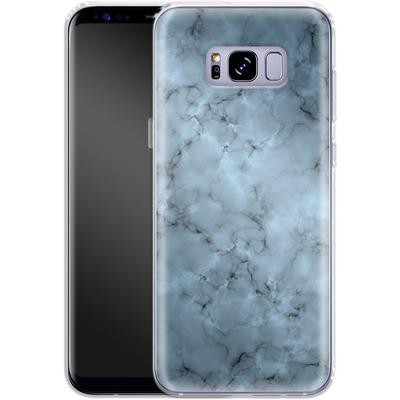 Samsung Galaxy S8 Plus Silikon Handyhuelle - Blue Marble von caseable Designs