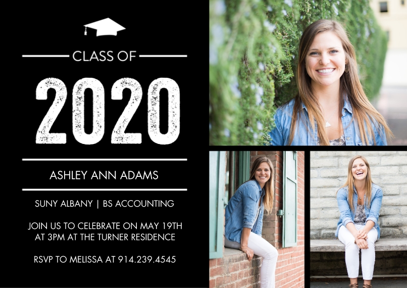 2020 Graduation Announcements 5x7 Cards, Standard Cardstock 85lb, Card & Stationery -2020 Grad Basic by Tumbalina