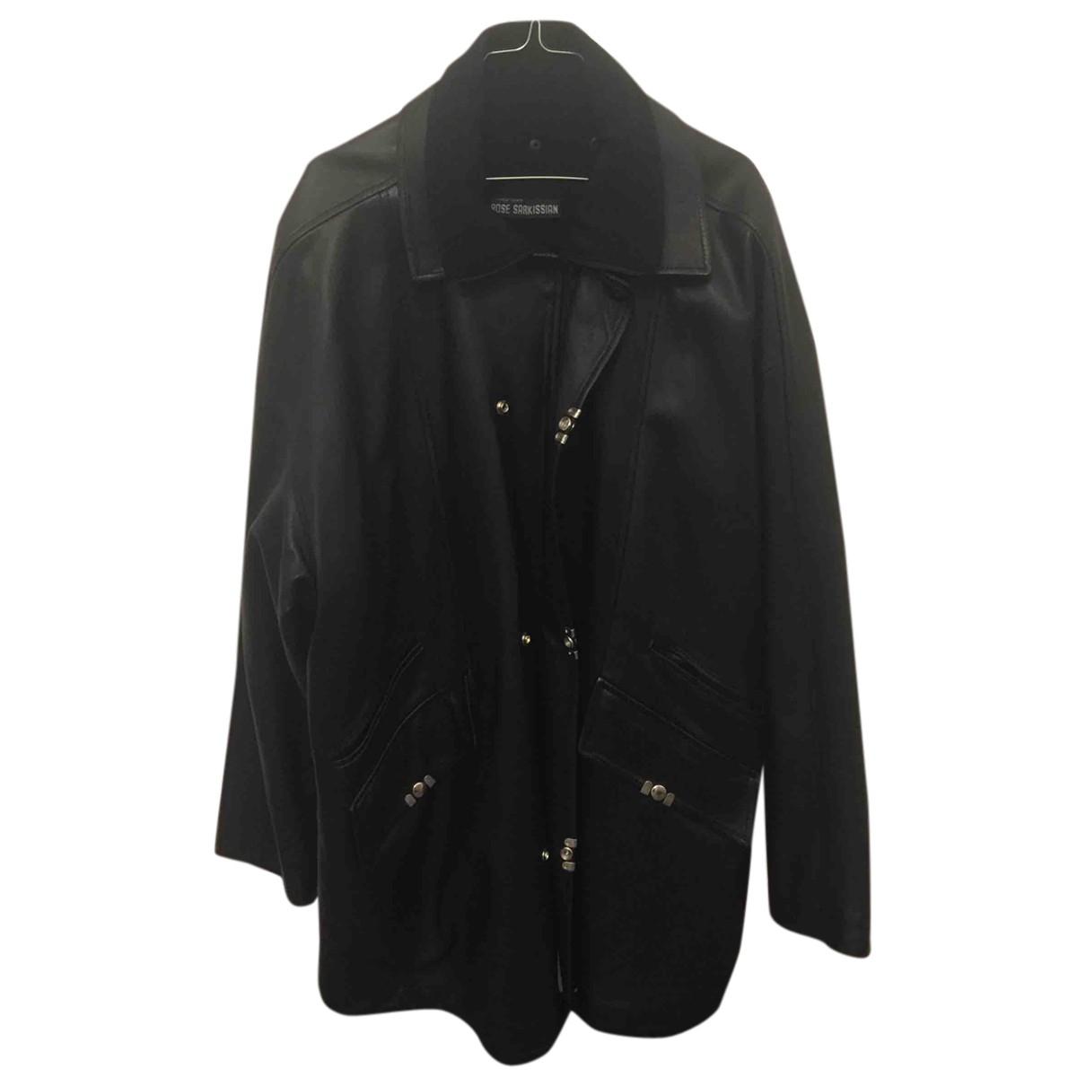 - Manteau   pour homme en cuir - noir