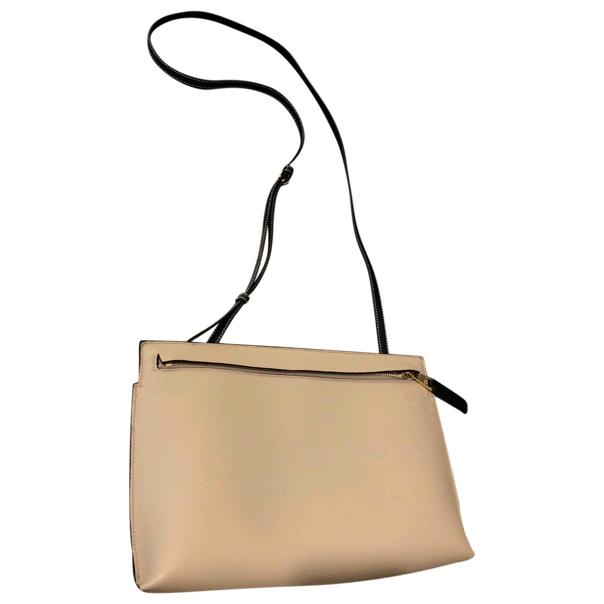 Loewe T Pouch Beige Leather Clutch bag for Women \N
