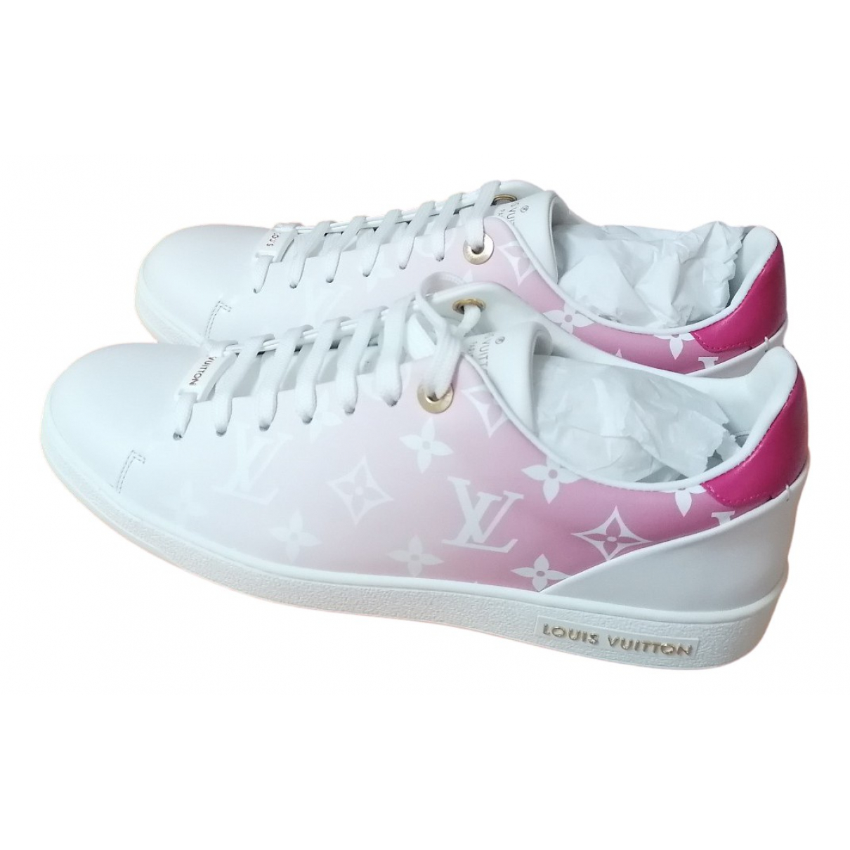 Louis Vuitton FrontRow Sneakers in  Rosa Leder