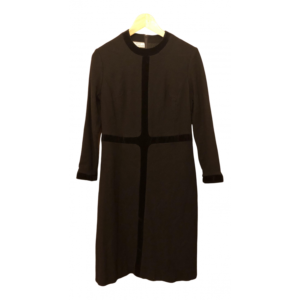 Non Signé / Unsigned N Black Wool dress for Women S International
