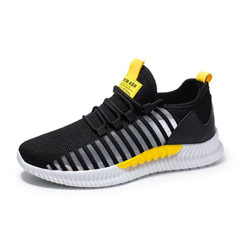 Ericdress Breathable Mesh Color Block Lace-Up Men's Athletic Shoes