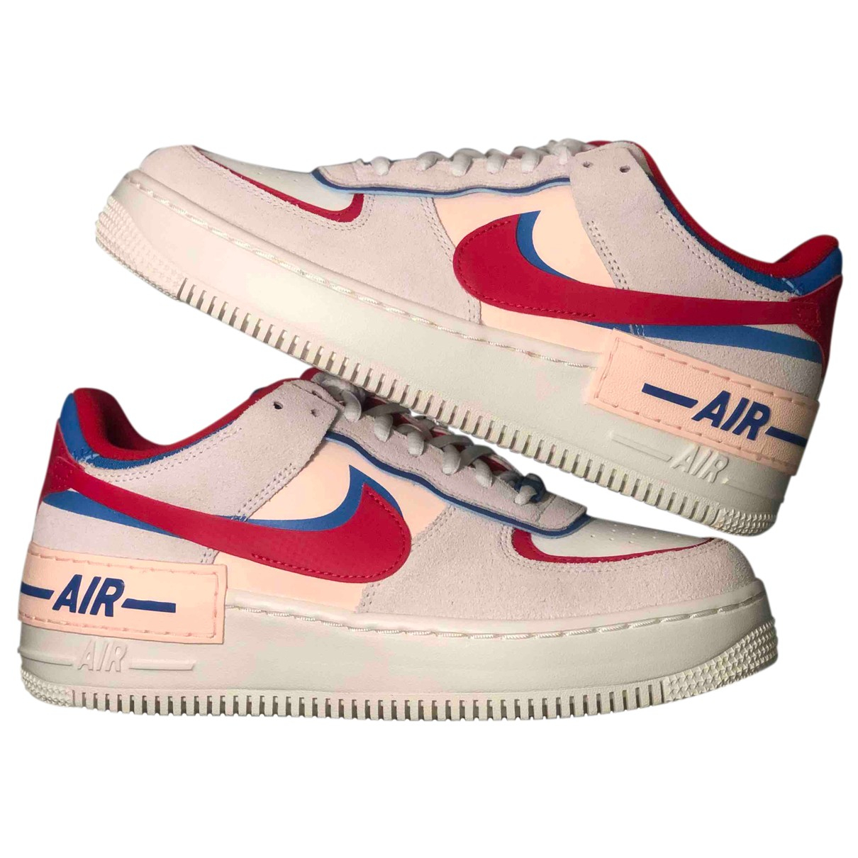 Nike Air Force 1 Grey Leather Trainers for Women 39 EU
