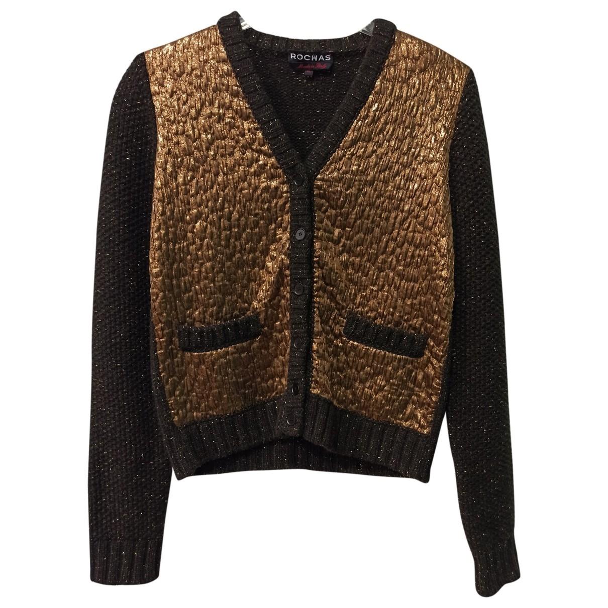 Rochas - Pull   pour femme en laine - marron