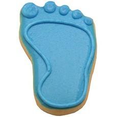 Baby Boy Footprint Cookies