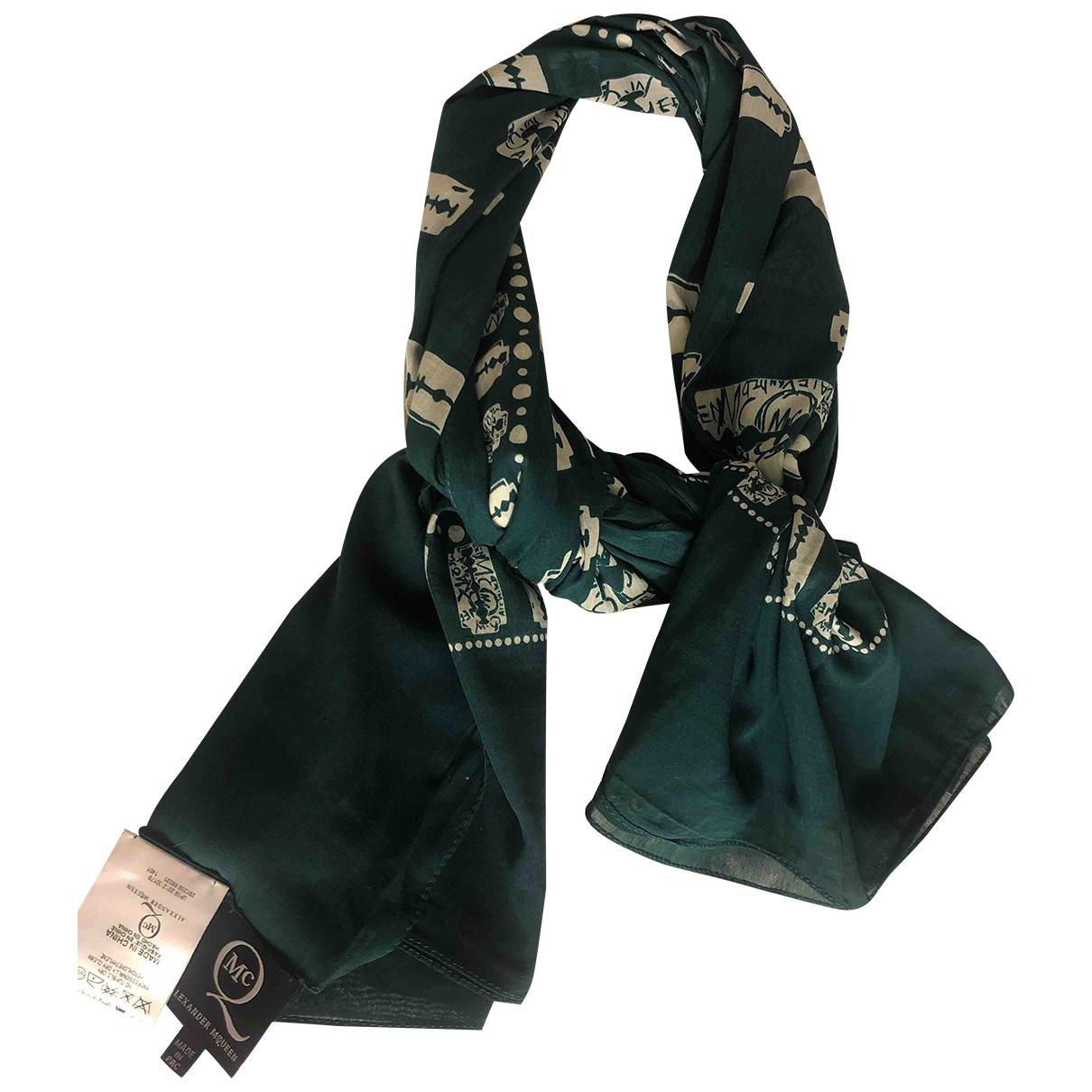 Mcq - Foulard   pour femme en coton - vert