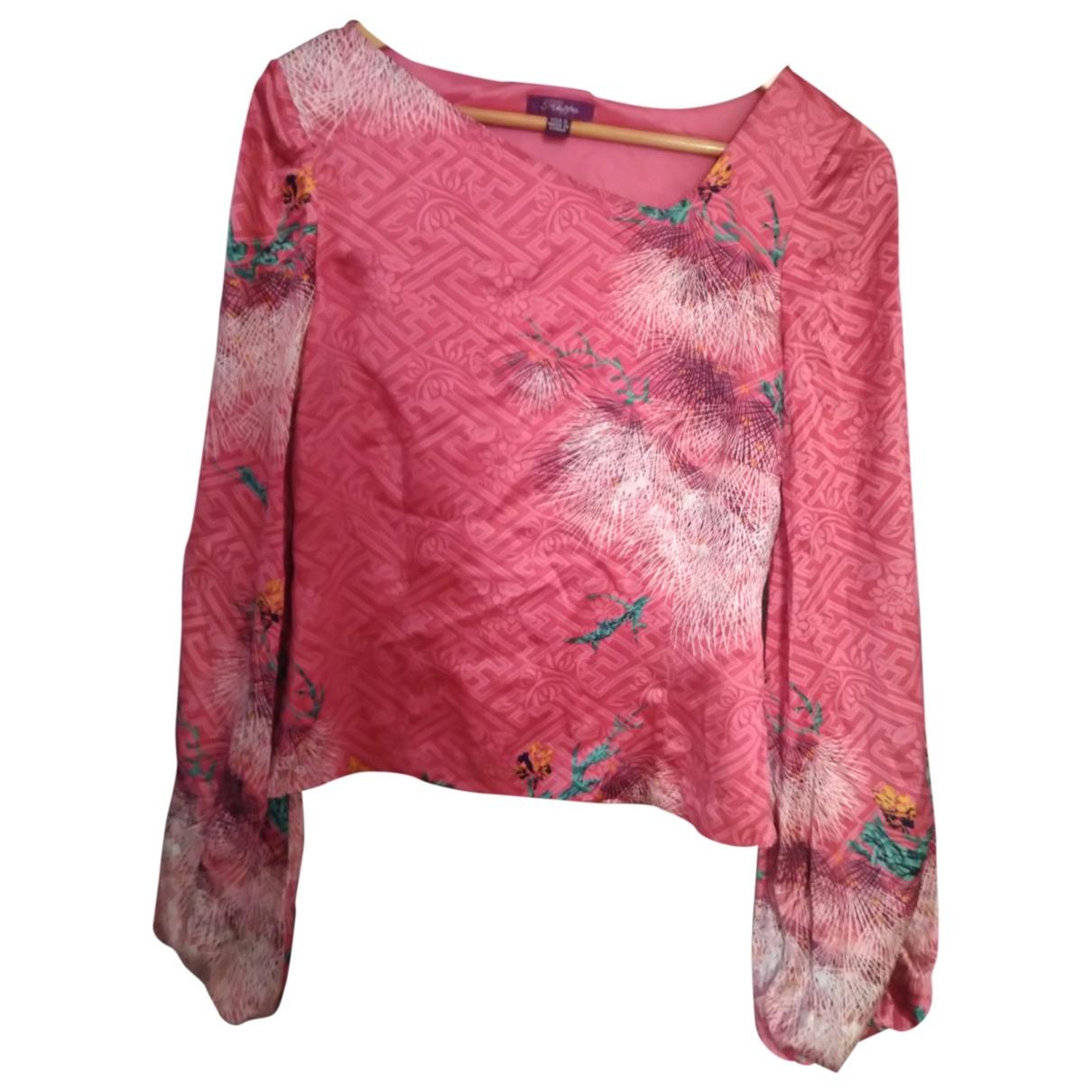 Filippa K - Top   pour femme en soie - rose