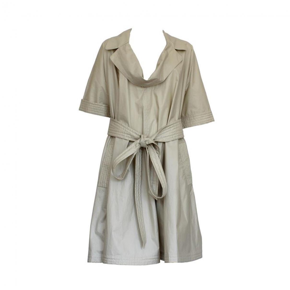 Bottega Veneta \N Beige Cotton dress for Women 44 IT