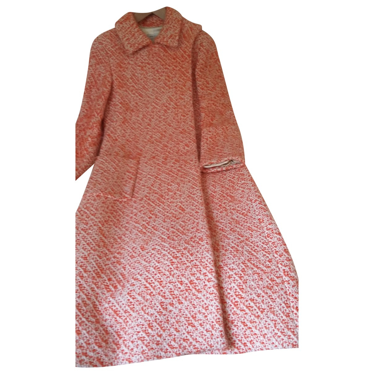 Dries Van Noten - Manteau   pour femme en laine - orange