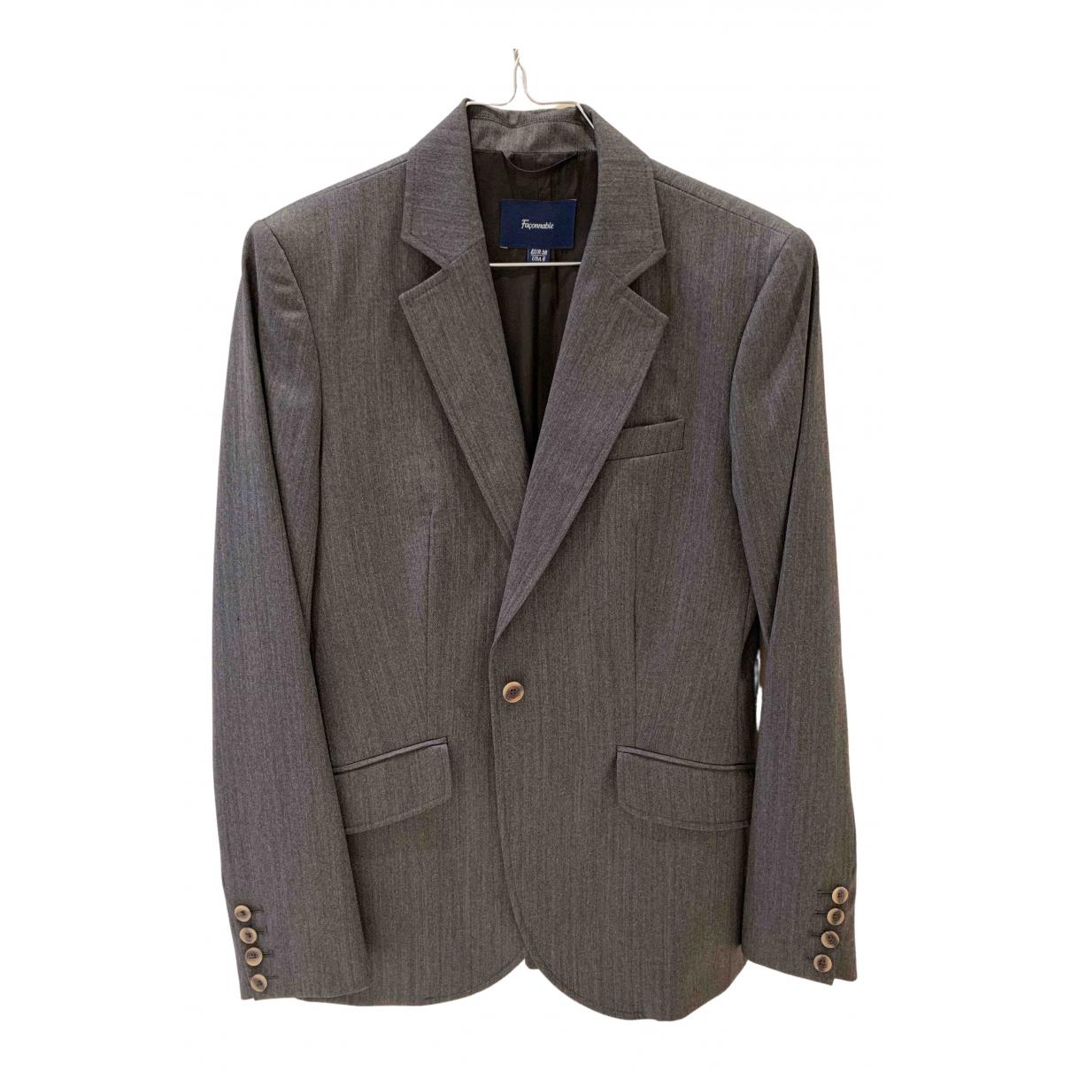Faconnable \N Jacke in  Grau Wolle