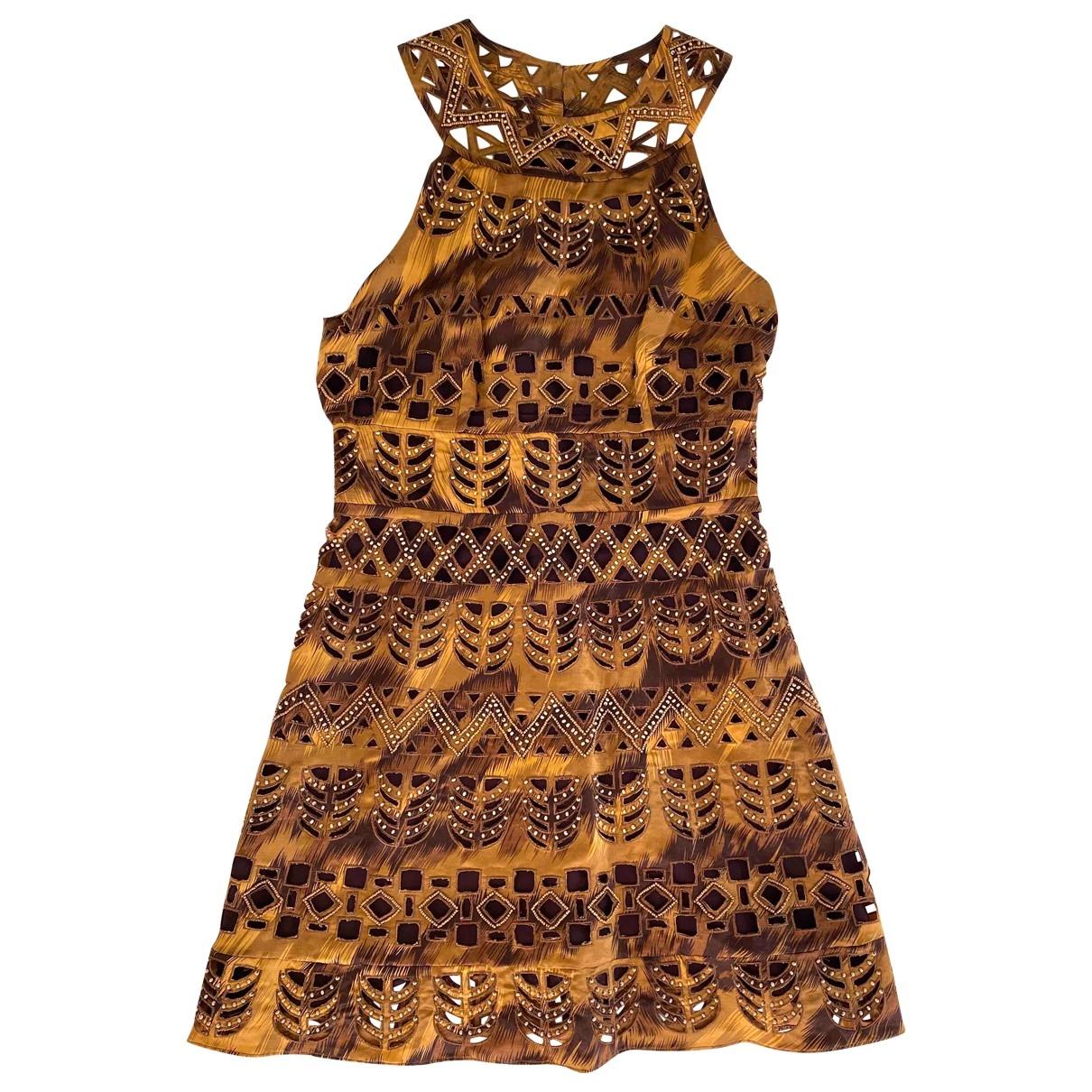 Diane Von Furstenberg - Robe   pour femme en soie - marron