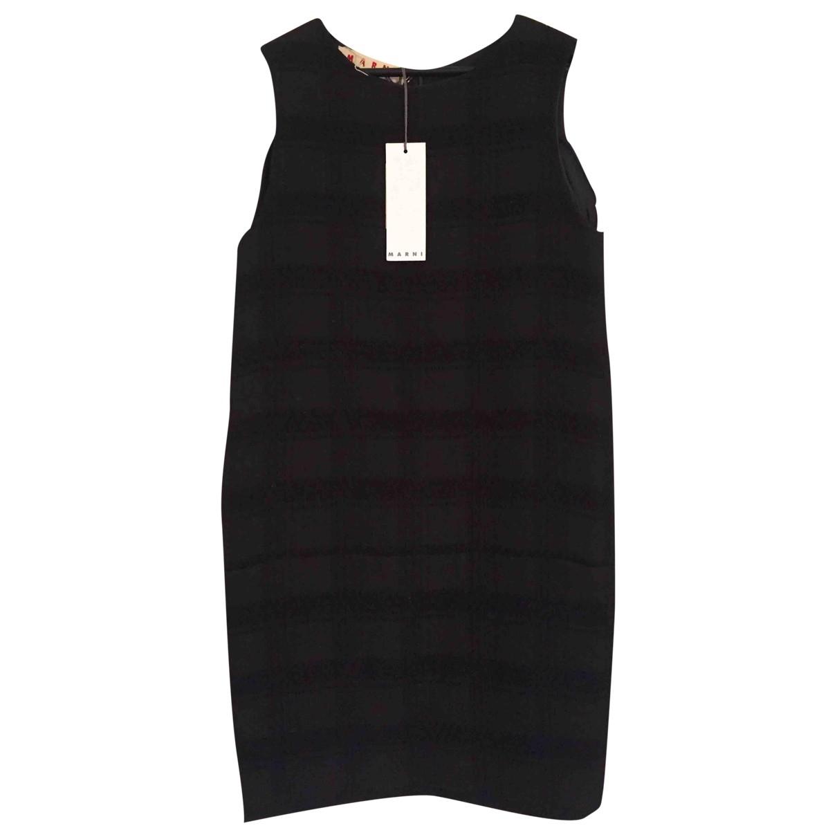 Marni \N Kleid in  Schwarz Wolle