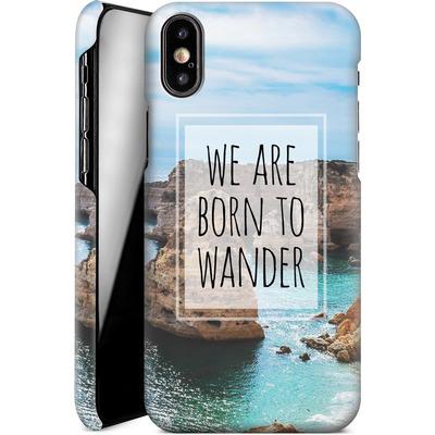 Apple iPhone X Smartphone Huelle - Born to Wander von Joel Perroden