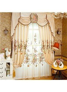 Modern and Pastoral American Style Royal Organza Living Room and Bedroom Sheer Curtain