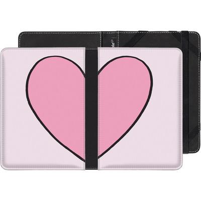 Amazon Kindle eBook Reader Huelle - Half Heart Right von caseable Designs