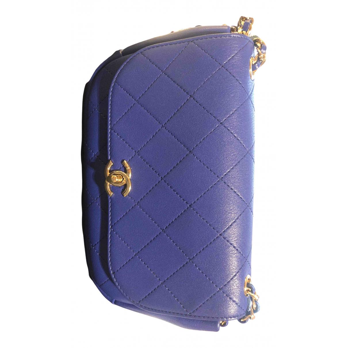 Chanel N Blue Leather handbag for Women N