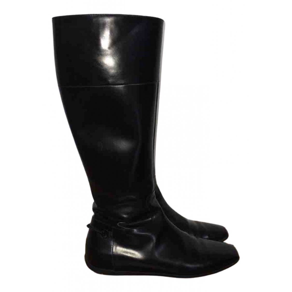 Gucci \N Black Patent leather Boots for Women 36.5 EU