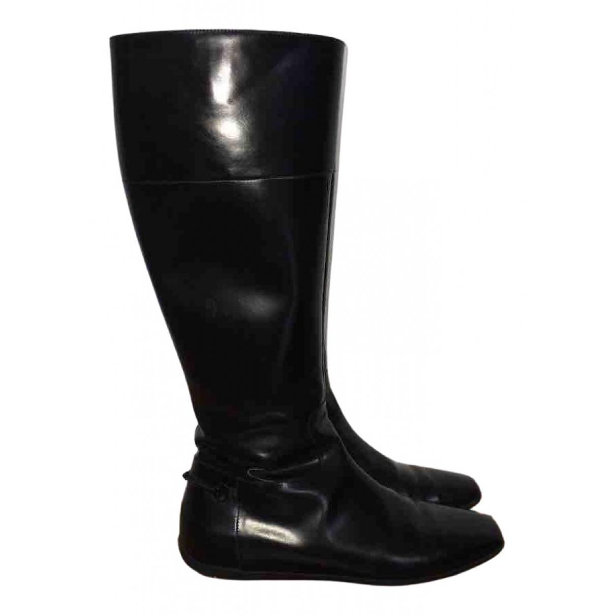 Gucci \N Stiefel in  Schwarz Lackleder