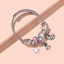 Star & Round Charm Bracelet