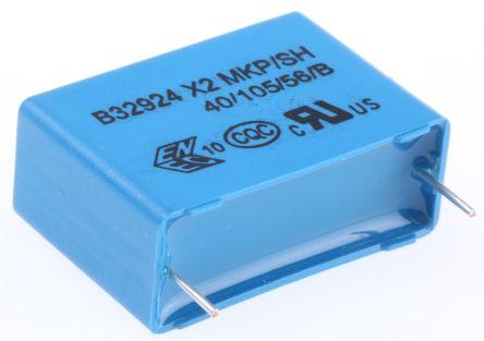 EPCOS 1.5μF Polypropylene Capacitor PP 305V ac ±20% Tolerance Through Hole B32924C Series (5)