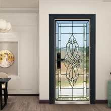 3D Mirror Design Door Sticker