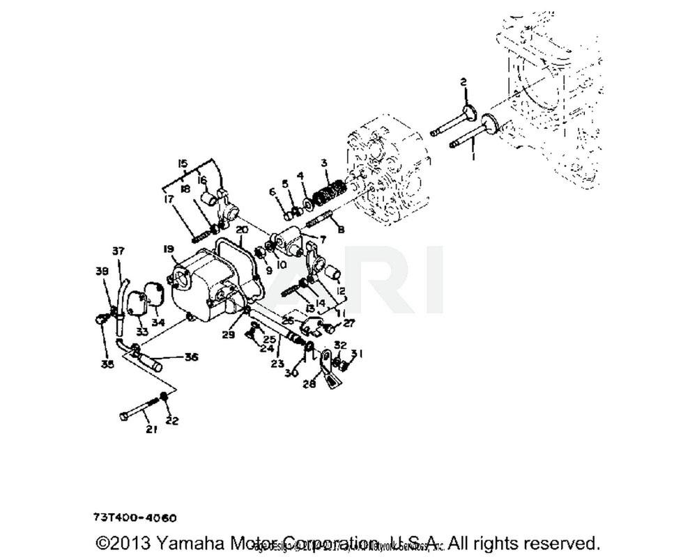 Yamaha OEM YF1-49111-31-21 VALVE, EXHAUST