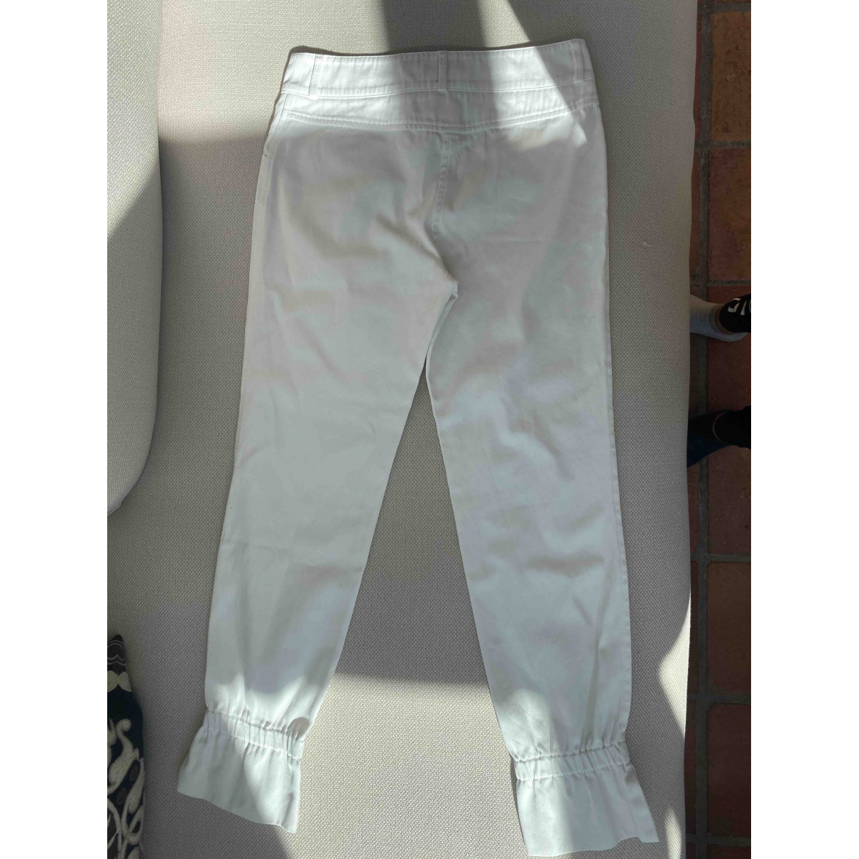 Chanel \N White Cotton Trousers for Women 36 FR