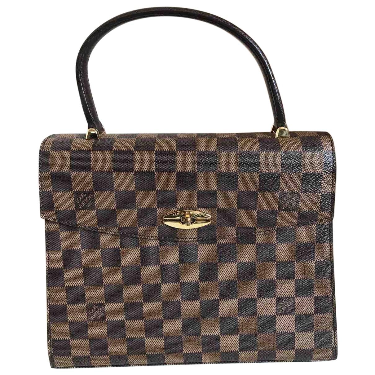 Louis Vuitton Malesherbes Handtasche in  Braun Leinen