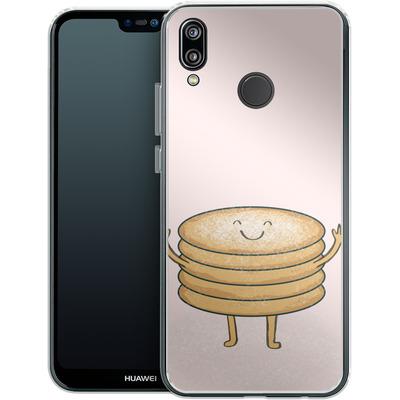 Huawei P20 Lite Silikon Handyhuelle - Pancake-man with Sugar von caseable Designs
