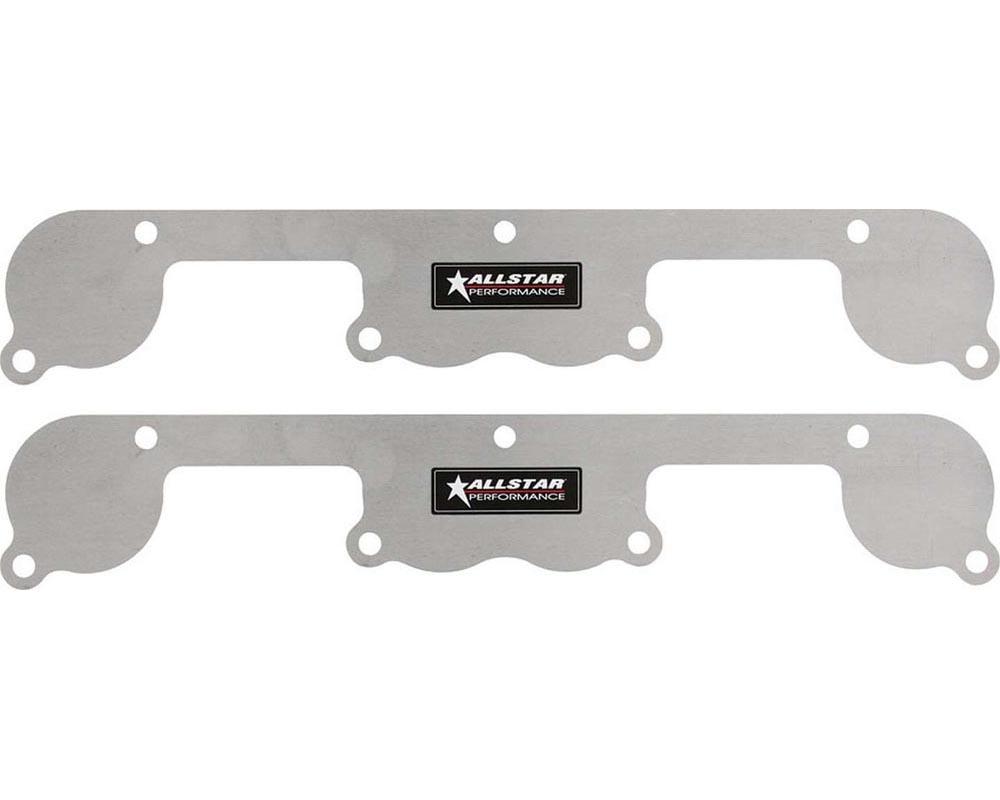 Allstar Performance ALL34214 Exhaust Block Off Plates SBC Spread Port Aluminuminum ALL34214