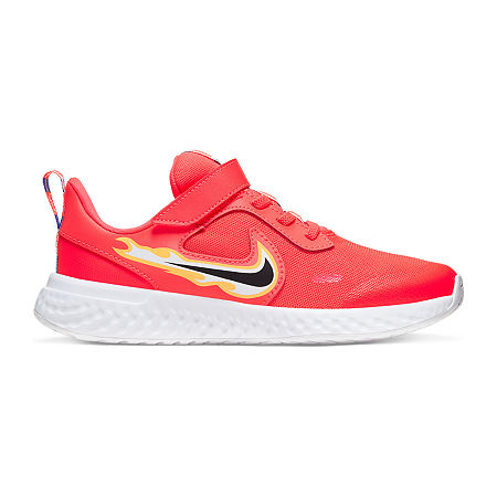 Nike Revolution 5 Fire Little Kids Boys Running Shoes, 12 Medium, Red