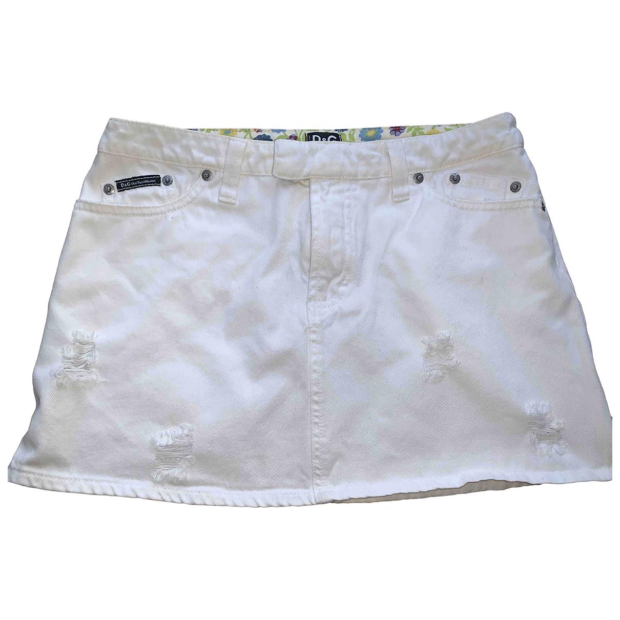 D&g \N Rocke in  Weiss Denim - Jeans