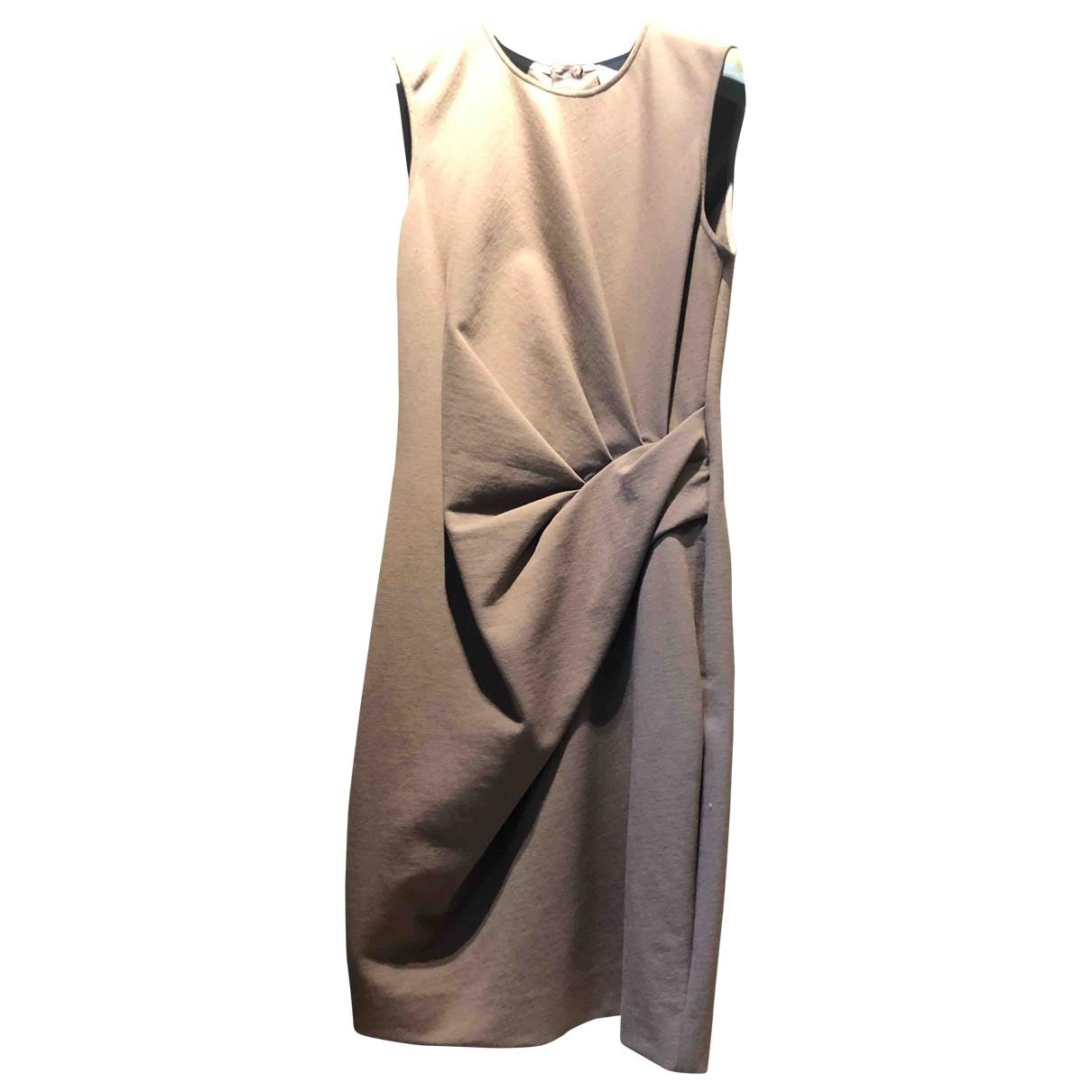 Lanvin \N Kleid in  Kamel Baumwolle - Elasthan