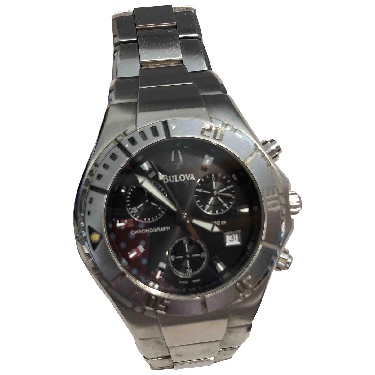 Bulova \N Uhr in  Silber Stahl