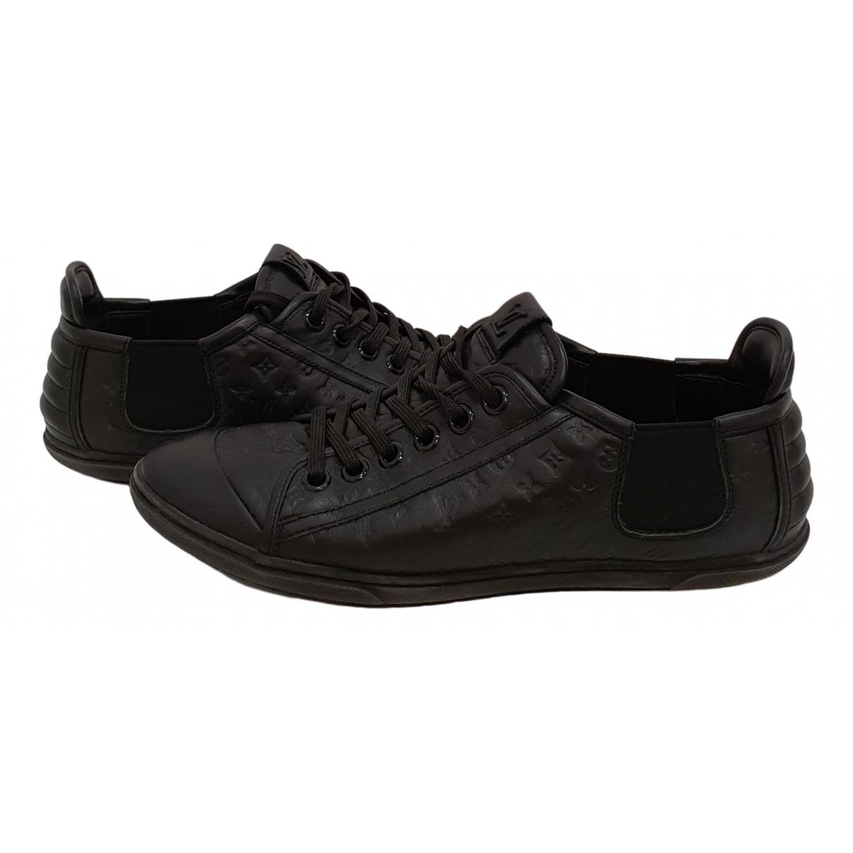 Louis Vuitton Match Up Sneakers in  Schwarz Leder