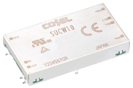 Cosel 10W Isolated DC-DC Converter Surface Mount, Voltage in 18 → 36 V dc, Voltage out ±12V dc