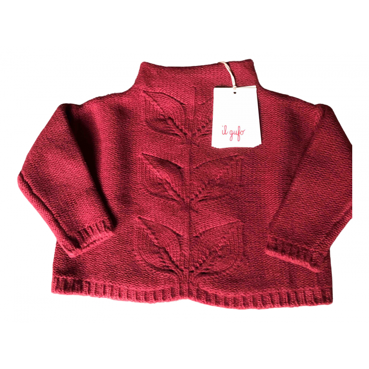 Il Gufo N Burgundy Wool Knitwear for Kids 2 years - until 34 inches UK